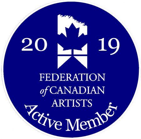 Izabela Bogdanovic became Active member of Federation of Canadian Artists in October 2019