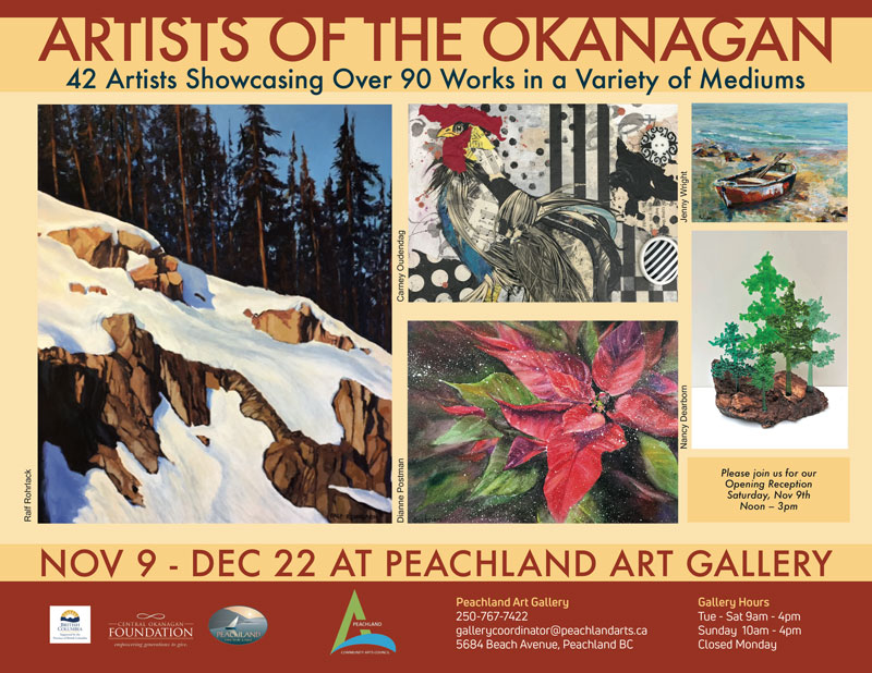 You can visit Artsits of the Okanagan exhibition till Dec 22 2019